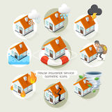 House insurance business service isometric icons template. Stock Photography
