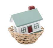 House insurance. Clipping path included. Stock Image