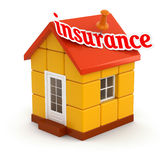 House and Insurance (clipping path included) Royalty Free Stock Photos