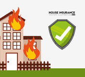 House insurance design Royalty Free Stock Photography