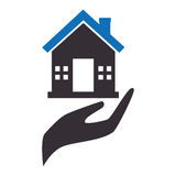 House insurance icon emblem Stock Photography