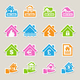 House insurance icons Set. Stock Photo