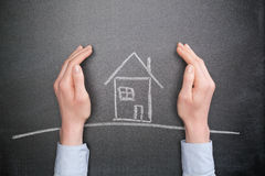 House Insurance and Protection Stock Photo