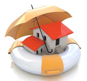 House insurance protection from mortgage. Real estate financial and structural risk Stock Photo