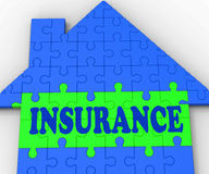 House Insurance Shows Home Protected And Insured Royalty Free Stock Photo
