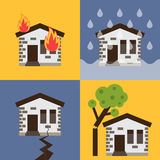 House insurance vector illustration Stock Images