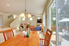House inteiror. Dining room Stock Photography