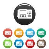 House intercom icons set color royalty free illustration