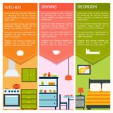 House interior banners Royalty Free Stock Photography