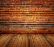 Free House Interior Brick And Wood Grunge Texture Stock Image - 9542581