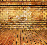 House interior brick and wood grunge texture Royalty Free Stock Photos
