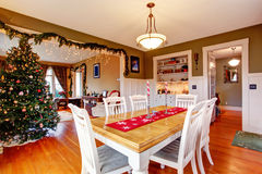 House interior on Christmas eve Royalty Free Stock Photo