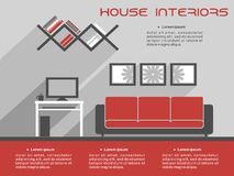 House interior design template Royalty Free Stock Photography