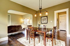 House interior. Dining area Stock Photo