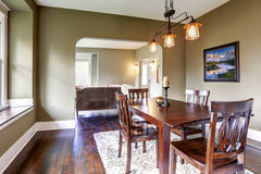 House interior. Dining area Stock Images