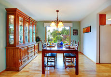 House interior. Dining area Stock Photos