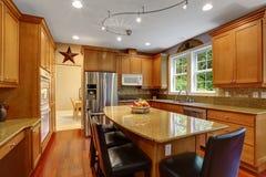 House interior. Elegant kitchen room interior Royalty Free Stock Photography