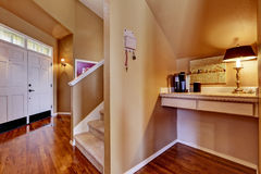 House interior. Entrance hall and small office area Stock Photos