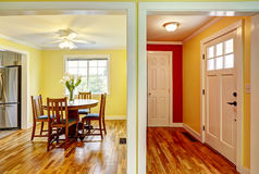 House interior. Entrance hallway and dining room Stock Images