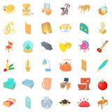 House interior icons set, cartoon style. House interior icons set. Cartoon style of 36 house interior vector icons for web isolated on white background Royalty Free Stock Image