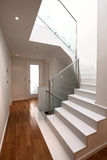 House interior with modern stairs Stock Images