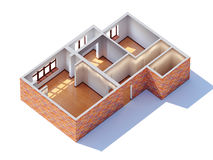 House interior planning. (general aerial view Royalty Free Stock Images
