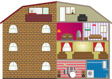 House interior. Vector illustration of a house interior. EPS-10 Stock Photography