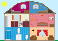 House interior. Vector illustration of a house interior. EPS-10 Stock Photo