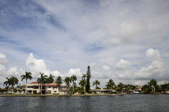 House on the Intracoastal Stock Image