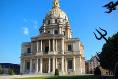 House of invalids. Invalides in Paris and architectural monument, which was erected by order of Louis XIV of 24 February 1670 as the house of mercy distinguished Royalty Free Stock Image