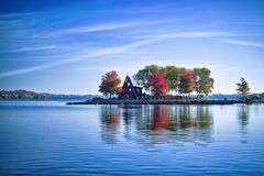 A House on an island Stock Image