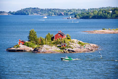 House on island in Baltic sea Stock Photos