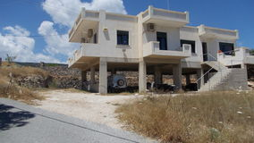 House on the island of Crete. Concrete house on The island on Crete royalty free stock photos
