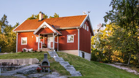 House at the  island Harstena in Sweden Stock Photo