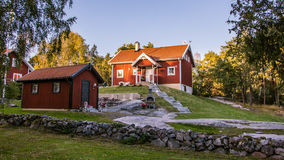 House at the  island Harstena in Sweden Royalty Free Stock Image