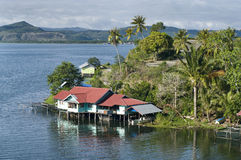 House on an island on the lake of Sentani