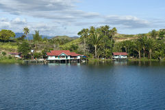 House on an island on the lake of Sentani Royalty Free Stock Photography