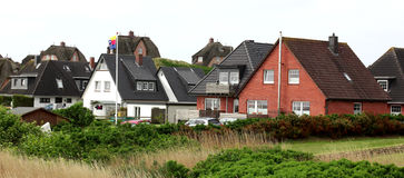 House on the island of Sylt!!! Royalty Free Stock Photo