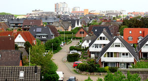 House on the island of Sylt. Germany stock images