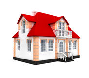 House isolated 3d model. New house isolated 3d model over white background Stock Photography