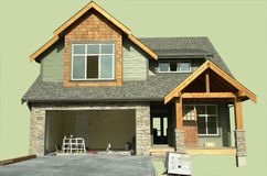House isolated Under Construction Royalty Free Stock Photo