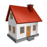 House Isolated on White Stock Photos