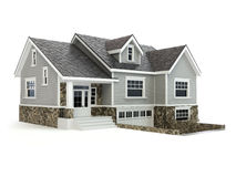 House isolated on white. Real estate concept. Royalty Free Stock Images