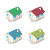 House isometric vector icons set Stock Photography