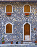 House in an Italian country stock images