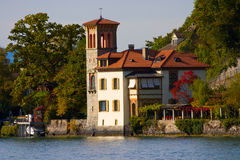A house in Italian style. A beautiful house in Italian style on the shore of the Thunersee (Switzerland Royalty Free Stock Image