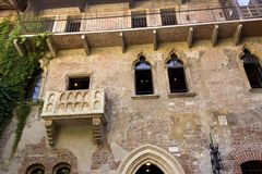 The house of Julia in Verona royalty free stock image