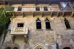 The house of Julia in Verona stock images