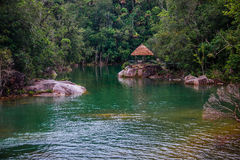 House in the jungle.  Royalty Free Stock Photography