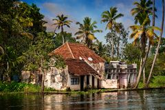 House in the jungle of Kerala stock photos
